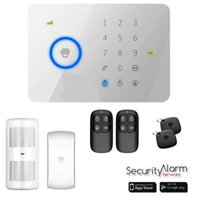 Wholesale DHL Chuango G5 Touch Keypad GSM SMS Wireless Home Security Burglar Alarm System RFID Access Control MHZ
