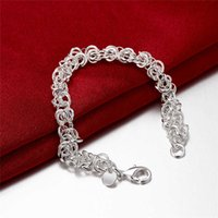 bars giving - 2016 New plated silver chain with various circles for Christmas Gift given woman and man on