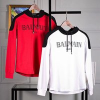 Wholesale New streetwear Brand designer balmain Sweatshirt Men Hoodies Fashion Solid Fleece Hoodie Mens Sports Suit Pullover Mens Tracksuits