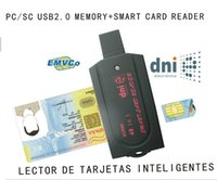Wholesale USB Smart Card Reader pc sc scr80 support SD in micro SD MS in M2 SIM iso7816 ic Smart Card with SDK card reader