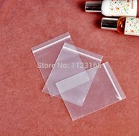 Wholesale 100pcs Thick bag mm cm Small Clear Resealable Zip Lock PE plastic bags gift bag poly jewelry bags