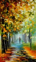 artists of music - Leonid Afremov decoration Palette knife oil painting the music of the fall famous artist reproduction