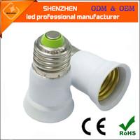 abs extension - E27 to E27 Socket Light Bulb Lamp Holder Adapter Extender e27 Lamp Adapter Converter E27 Extension Lamp holder adapter fire proof material