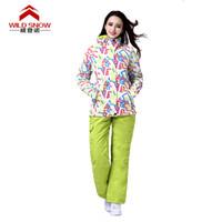Wholesale Ski Suit Women Snowboard jackets mountain ski suit skiing waterproof windproof thermal jackets pants