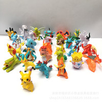 Wholesale 100style Poke Figures Toys Monster Action cm Pikachu Charizard Eevee Bulbasaur Mini Model Pokémon Toy Doll Little Figurine For Children