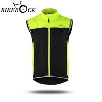 Wholesale Reflective Cycling Sportswear Men Jerseys MTB Bike Bicycle Cycling Windcoat Outdoor Sports Jacket Sleeveless Vest Waistcoat