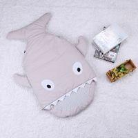 Wholesale Shark Sleeping Bag Newborns Sleeping Bag Winter Strollers Bed Swaddle Blanket Wrap Cute Bedding Baby Sleeping Bag BaBy ZD110B