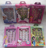 Wholesale Hot Sale boxes Cartoon Children Plastic Rings kid ring Brand New