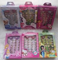 Cheap Hot Sale 6 boxes   180 Pcs Cartoon Children Plastic Rings, kid ring - Brand New