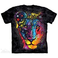 animal mountain lion - mountain black watercolor lion novelty lovers basic plus size shirt short sleeve
