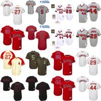 achat en gros de albert pujols jersey-Hommes 27 Mike Trout 29 Rod Carew 44 Reggie Jackson 5 Maillot Albert Pujols, Maillot Hommes Los Angeles Angels Of Anaheim Maillot de baseball
