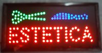 Wholesale 2016 direct selling CM Beautiful decoration sign Estetica Barber shop sign hair cut led sign led billboards