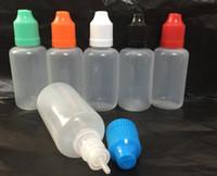 Wholesale Colorful Bottle caps needle Bottle ml ml ml ml ml Plastic Dropper Bottles CHILD Proof Caps Tips LDPE PE For Vapor Cig Liquid