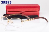 bamboo eyeglass frames - Semi rim Glasses Wooden Carved Eyeglasses Gold Optical Glasses Women Wood Bamboo Carving Eyewear Frames