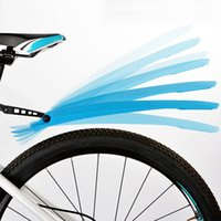 Wholesale icycle speedometer Bicycle Fenders Rocks Mountain Bike Mudguard Quick Release Soft Cycling Bike Parts Road Bicycle Front Rear Wing Mudgua