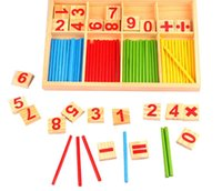 Wholesale Wooden Counting Stick Mathematics Game Early Learning Educational Toy for Kid