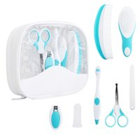 baby hairbrush - Baby Grooming Care Manicure Set Healthcare kit Nail Clipper Toothbrush Hairbrush Comb Emery Board Nail Scissor