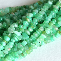 australia form - Natural Genuine Grass Green Chrysoprase Australia Jade Nugget Chip Loose Beads Free Form x8mm Fit Jewelry Necklace Bracelets quot