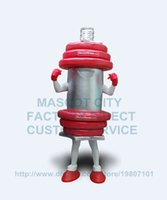 advertising fitness - Hot Sale Advertising gym dumbbell mascot costumes Adult Anime Cosply Fitness Theme Mascotte Fancy Dress Carnival Mascotte Fits