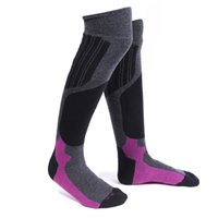 Wholesale new style fashion hot selling overknee high outdoors skiing sock mans high quality hikking cushion sock