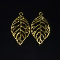 Wholesale ewelry Watch Jewelry Findings Components new design Gold metal charm Tree leaf pendant for diy necklace or bracelets jewellery fin
