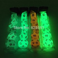 Wholesale pc High Quality Set D4 Glow in the Dark dnd Glowing Dice