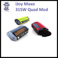 Wholesale 100 Authentic IJOY Maxo Quad w TC Box Mod with Various Leather Sticker with IJOY Limitless XL Tank