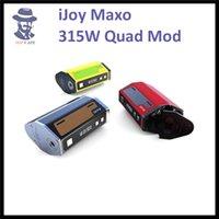 achat en gros de quad autocollants-100% Authentique 315W IJOY Maxo Quad 4 18650 TC Box Mod avec Divers Autocollant en cuir avec IJOY Limitless XL Réservoir