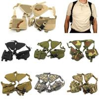 Wholesale Airsoft Hunting D Nylon Portable Hidden Underarm Shoulder Pouch Tactical Military Messenger Bag Case Combat Accessor Pouch