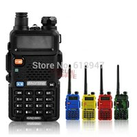 Wholesale BAOFENG UV R Walkie Talkie Dual Band Radio Mhz Mhz Baofeng UV5R handheld Two Way Radio