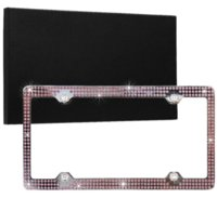 Wholesale Bling Stainless Steel License Plate Frame for Auto Car Truck SUV you can choose pink purple or blue color