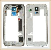 Wholesale Middle Frame Bezel Chassis Housing for Samsung Galaxy S5 SM G900 Gray Silver DHL