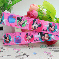baby shop items - 7 quot mm Cartoon Minnie Shopping Printed Grosgrain Ribbon Hair DIY Craft Party Decos Baby Item Yards A2