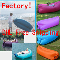 produce bags - 2016 New Lamzac Hangout Fast Inflatable Lounger Air Sleep Camping Sofa KAISR Beach Sleeping Bags Bed Lazy Chairs Outdoor Factory Produce