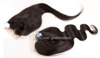 Wholesale Closure Body Wave Straight Lace Closure Bleached Knots free part middle central part three part Human Hair Closure