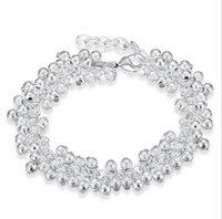 Hot Sand Light Grapes Style Argent Bracelet Argent Chain Link Bracelet Plaquage Argent 925 Infinity Bracelets Bracelets Accessoires