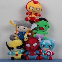 Precio de Superhéroes juguetes de peluche-Las muñecas de la felpa de los vengadores juegan los superhéroes vengadores Alianza marvel la versión de las muñecas 2Q de los vengadores Envío libre
