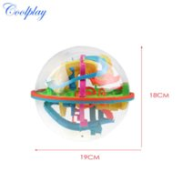 Wholesale 138 Steps A Puzzle ball Big Educational Magic Intellect Ball Marble Puzzle Game perplexus magnetic balls