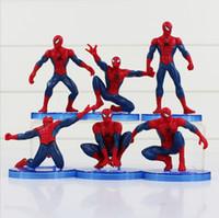 Wholesale The Avengers Spider Man set Spiderman action Figures PVC toys PVC dolls cm
