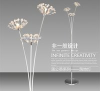 Wholesale Modern crystal lamp lamp LED creative dandelion living room bedroom bedside lamp floor lamp