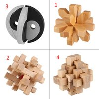 Wholesale Intellectual Wooden Puzzle Kong Ming Luban Lock Brain Teaser Education Game