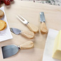 Wholesale Finether Pieces Set Cheese Knives Set with Wood Handle Steel Stainless Cheese Slicer Cheese Cutter lt no tracking