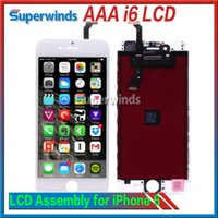 Wholesale Grade AAA Quality iPhone LCD Display Touch Screen Digitizer full Assembly Complete Screen with Frame Free DHL NO TOUCH ISSUE