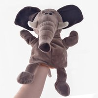 animal simulation games - Plush Hand Puppets Simulation Animal Elephant Puppets Kids Gifts Hand Puppet Parent child game Plush Toys for Girls