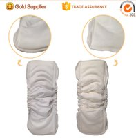 Wholesale Baby diapers and layers of bamboo cotton drawstring leakproof drawstring washable bamboo fiber pad