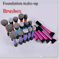 Wholesale colorful professional makeup bruses with different shape for foundation make up a with alloy handle