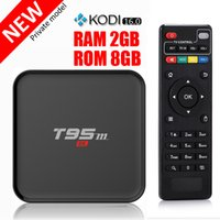 Wholesale T95M Android TV Box G G Quad Core Amlogic S905 bit UHD K HDMI KODI Miracast DLNA Smart Set top box