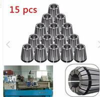 Wholesale 15pcs ER25 mm mm Spring Collets Chuck Collet for CNC Lathe Machine