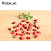 Wholesale 200PCS Painted Ladybug Fashion Trendy Self Adhesive DIY Wood Craft Scrapbooking Decoration mm mm