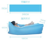 Wholesale 2016Fast Inflatable Sofa Sleeping Bag Outdoor Air Sleep Sofa Couch Portable Furniture Sleeping Hangout Lounger Inflate Air Bed
